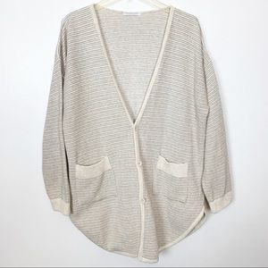 Joan Vass Cardigan Button Sweater Size 2-US 12/14